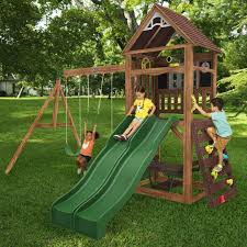 cedar summit by kidkraft lindale playset