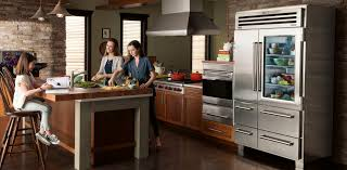 fresh food and drink for glass door refrigerator side simple oven front wood table and nice chair on sleek floor plus cute chandelier