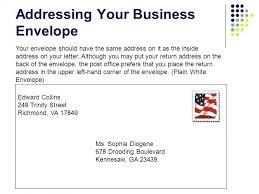 Addressing A Business Letter Envelope Sample Professional Letter