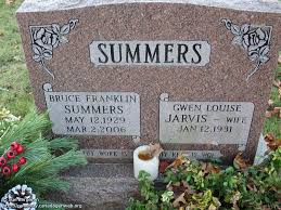 ON: Burns Presbyterian Church / Ashburn Cemetery (Bruce Franklin SUMMERS),  CanadaGenWeb's Cemetery Project