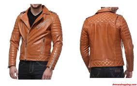 Arrow Leather Mens Tan Biker Quilted Lambskin Leather Jacket moto ... & ... Mens Tan Biker Quilted Lambskin Leather Jacket moto – uyiyidd. Zoom.  helmet Adamdwight.com