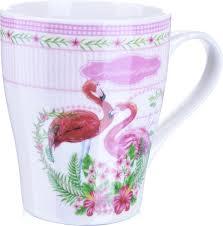 """<b>Кружка Loraine</b> """"Фламинго"""", цвет: белый, розовый, <b>340</b> мл. 217-3 ..."""