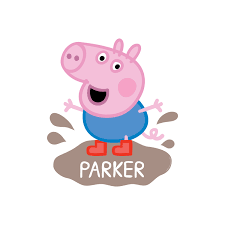 Peppa Pig Bedroom Accessories Peppa Pig George Mud Puddle Easy Move Canvas Decal Wall Decor