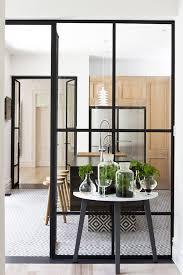 micro trend black metal framed windows kitchen