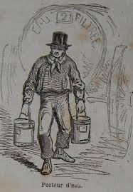 """Résultat de recherche d'images pour """"dessin porteur d'eau début 19e siècle à paris"""""""