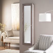 mirror door mounted lovely wall mounted jewelry armoire for your bedroom design rectangle wooden