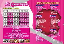Harga Catering Aqiqah 2016 Kaliabang Tengah Murah