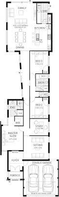 claremont single y narrow floor plan wa floor plans in narrow lot house plans single story house plans single y south africa
