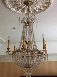 french empire style chandelier wide 5 light single tier polished nickel