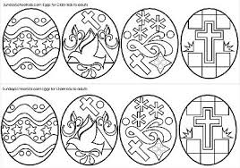 Middle School And Junior High Easter Eggs Coloring Page Challenge