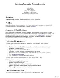 Vet Tech Resumes Samples Amazing Veterinary Technician Resume Vet