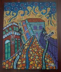new orleans original painting pirates alley 16 x20 aline cross folk art