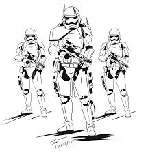 happy stormtrooper coloring page awesome ideas first order