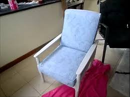 painting fabric furnitureDIY CHALK PAINT FABRIC CHAIR TUTORIAL  YouTube