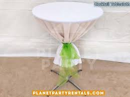 round cocktail table cloth with overly or bow san fernando valley linen als