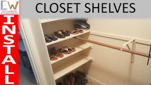 add storage space with closet shelves diy
