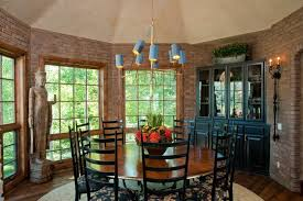 round table with lazy susan dining room traditional with beige ceiling black china