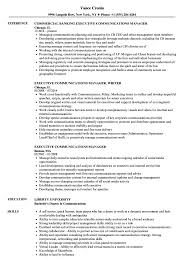 Executive Communications Manager Resume Samples Velvet Jobs