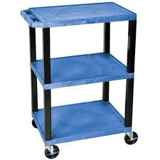 Walmart Utility Shelves Best H Wilson Tuffy 60Shelf Utility Cart Blue Shelves And Black Legs