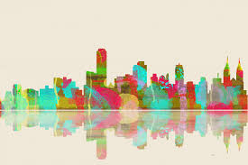 on pastel wall art adelaide with adelaide skyline 1
