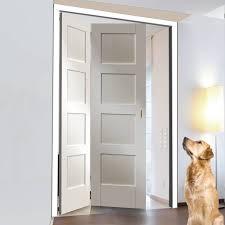 4 panel white interior doors. Freefold White Shaker 4 Panel Style Folding 2 Door Set, Height 2090mm, Width 1278mm Interior Doors