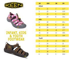 Keen Toddler Shoe Size Chart 22 Prototypal Keen Kids Size Chart
