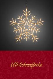 Led Acryl Schneeflocke Mit 8 Funktionen 90 Warmweiße Dioden