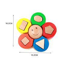 Đồ chơi gỗ thông minh Xếp hình bông hoa 5 cánh Kid Smile MS 05.1 nhiều màu  sắc Giá Rẻ, Chất Lượng