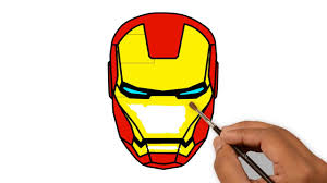 Would you like to draw iron man's mask? Iron Man Head Helmet Drawing Civil War Supper Coloring Pages Youtube