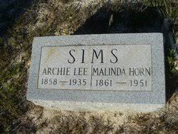 Malinda Horn Sims (1861-1951) - Find A Grave Memorial