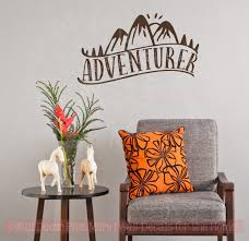 Wall Decor Quotes Simple Adventurer Vinyl Art Stickers Nature Lover Wall Décor Camper Decal
