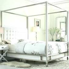 Wood Canopy Bed Frame King Room S – getvue