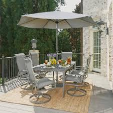 Daytona 9 Pc Rectangular Outdoor Dining Table with Six Swivel