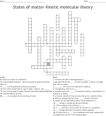 Hypothetical Particle That Travels Faster Than Light Crossword States Of Matter Kinetic Molecular Theory Crossword Wordmint