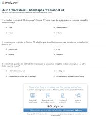 quiz worksheet shakespeare s sonnet com print shakespeare s sonnet 73 summary theme analysis worksheet