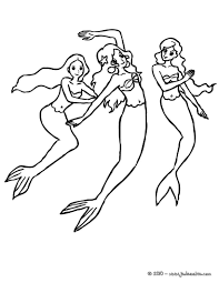 Coloriages Coloriage Sirene Manga Sirenes Group Of Mermaids