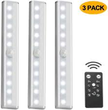 Wireless Under Counter Lighting Paprma Wireless Under Cabinet Lighting Usb Rechargeable Under Counter Light With Remote Control Dimmable For Closet Kitchen Hallway Wardrobe Stairs
