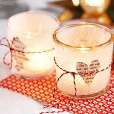Decorated Jam Jars For Christmas Frosted Glass Christmas Tea Lights Make Christmas Tealight 49