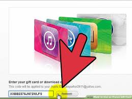 image led use an itunes gift card step 8