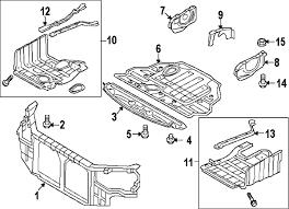 parts com® hyundai pnl side cover rh partnumber 291203q010 2011 hyundai sonata gls l4 2 4 liter gas radiator support