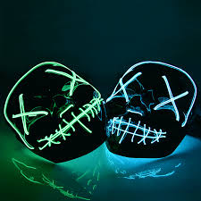 Halloween Led Light Up Purge Mask The Halloween Led Purge Mask