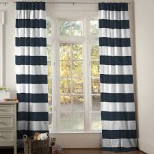 Ideas Tips Inspiringtal Striped Curtains For Interior Black And White Navy  Stripe With Bay Window Wooden Floor