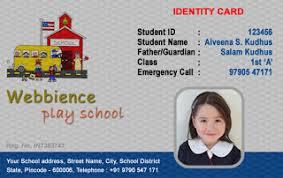 School Id Card Format Barca Fontanacountryinn Com