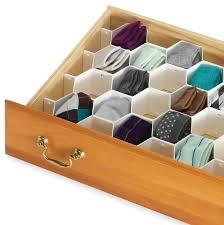 Honeycomb Drawer Organizer Storage Divider Plate Tidy Boxes Clapboard  Partition Closet White Interval Socks Underwear Tie Bra-in Storage Boxes &  Bins from ...