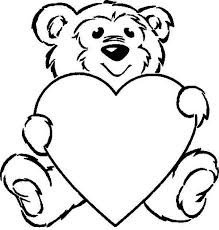 Teddy Bear With Heart Coloring Pages Teddy Bear Holding A Heart
