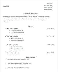 Simple Resume Sample Fascinating Simple Resume Samples Simple Resume Template Free Samples Examples