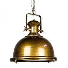 gaia industrial pendant light antique brass