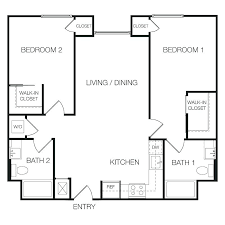 floor plan 2 bedroom apartment square feet 2 bedroom apartment 2 bedroom 2 bath floor plans