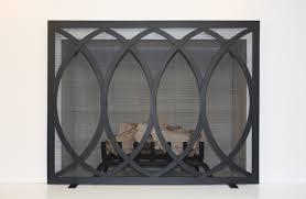 amazing single panel fireplace screen