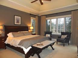Bedroom  Design Ideas Interior Two Tones Master Bedroom Window - Master bedroom window treatments
